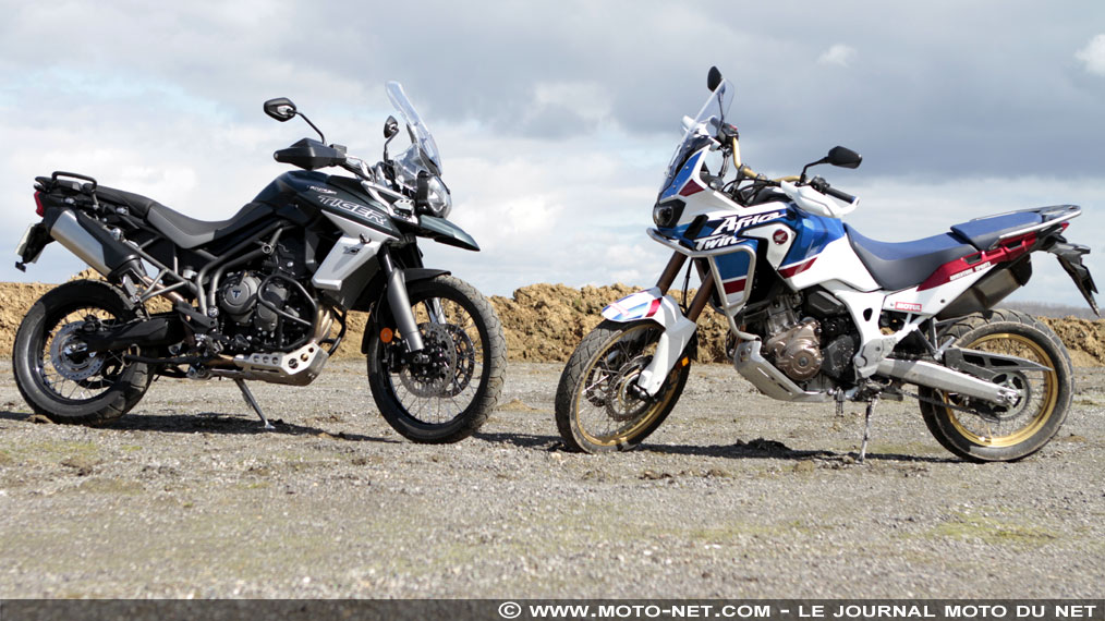 Duel Africa Twin Adventure Sports Vs Tiger 800 XCA 2018