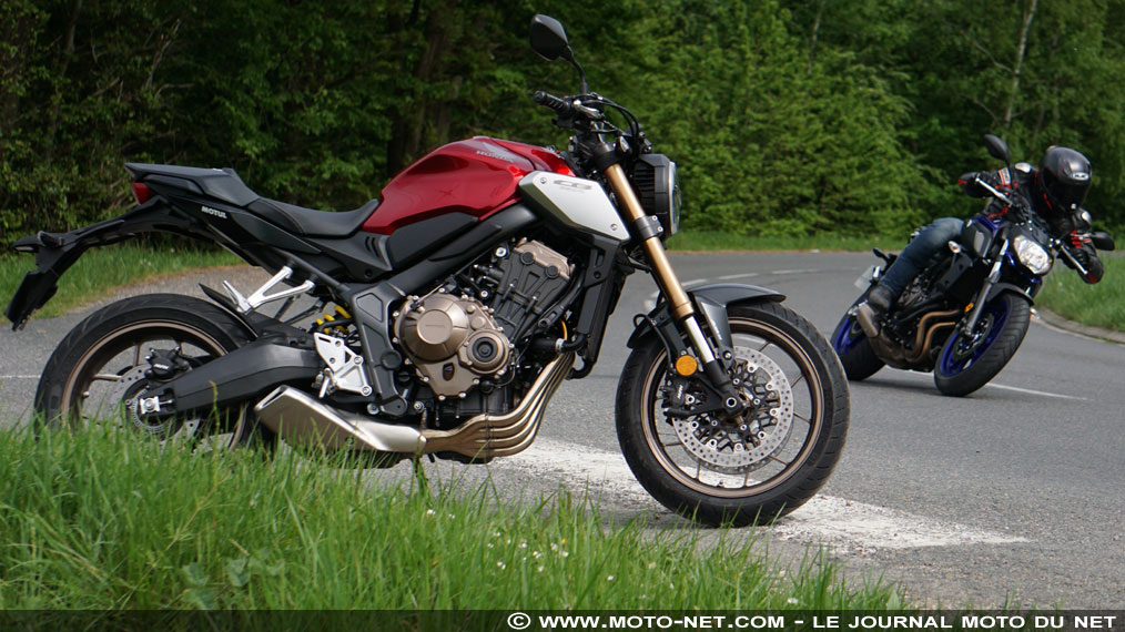Duel Honda CB650R Vs Yamaha MT-07 : roadster chic contre roadster choc