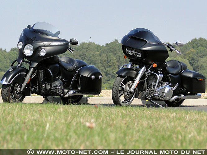 Duel Chieftain Dark Horse Vs Road Glide Special 107