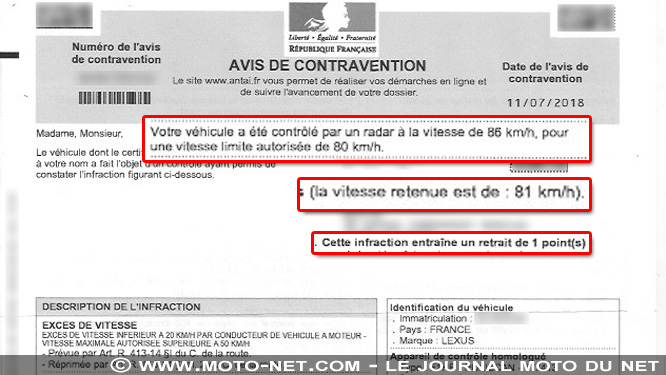 Nouvelle limitation de vitesse à 80 : 1 point perdu pour 81 km/h retenus...