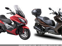 Kymco Xciting 400 et Downtown 125/350 Euro4