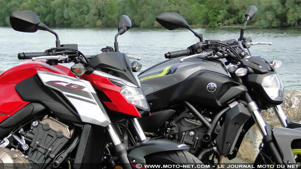 Duel CB650F Vs MT-07 : le traditionnel 4-pattes Honda contre le sensationnel CP2 Yamaha