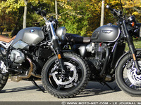 Duel BMW R nineT Scrambler Vs Triumph T120 Black : t'as le look, bobo !