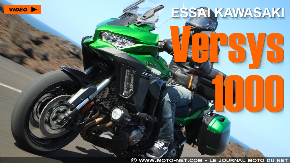 trail essai vid o de la nouvelle kawasaki versys 1000 2019. Black Bedroom Furniture Sets. Home Design Ideas