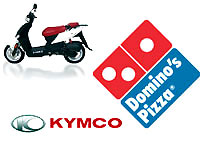 Kymco et Domino's Pizza font gagner un scooter