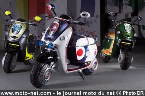 nouveaut s mini bmw pr sente un scooter lectrique au. Black Bedroom Furniture Sets. Home Design Ideas