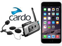 La gamme d'intercom Cardo Scala Rider compatible avec l'iPhone 6