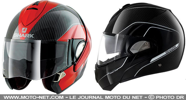 casques le casque moto modulable shark evoline passe au carbone. Black Bedroom Furniture Sets. Home Design Ideas