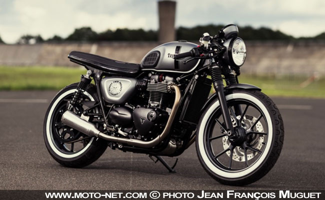 pr parations moto pr pa moto triumph d voile le street twin project au caf racer festival. Black Bedroom Furniture Sets. Home Design Ideas