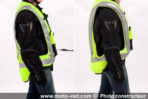 protections peugeot scooters propose aussi son gilet airbag. Black Bedroom Furniture Sets. Home Design Ideas