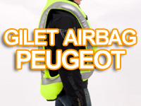 Peugeot Scooters propose aussi son gilet airbag