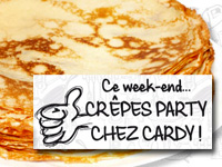 Crêpes Party ce week-end chez Cardy Center !