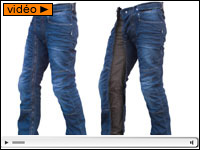 Sur-pantalon moto en jean Easy Five par 1964 Shoes