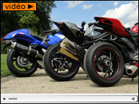 En direct du comparo Panigale Vs Ninja H2 Vs Hayabusa : moteurs !