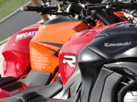 S1000R, Monster 1200, Superduke R et Z1000 : les Quatre Fantastiques !