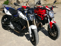 Duel F800R Vs Monster 821 : deux motos Twin, mais pas jumelles