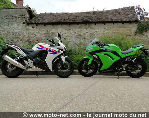 tous les duels duel cbr500r vs ninja 300 la moto sportive fa on a2. Black Bedroom Furniture Sets. Home Design Ideas
