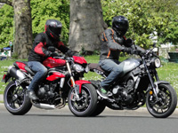 Duel Speed Triple S Vs XSR900 : ménages à trois