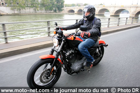 Test Harley XL1200N Nightster : Paris by Nightster
