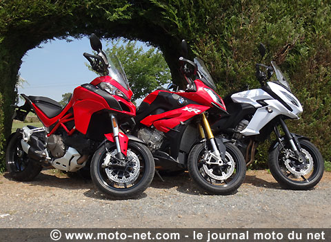 tous les comparatifs essai comparatif trails sportifs multistrada dvt vs s1000xr vs versys 1000. Black Bedroom Furniture Sets. Home Design Ideas