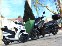 Duel scooters 125 : Sym GTS EFI vs Yamaha X-Max ABS Business