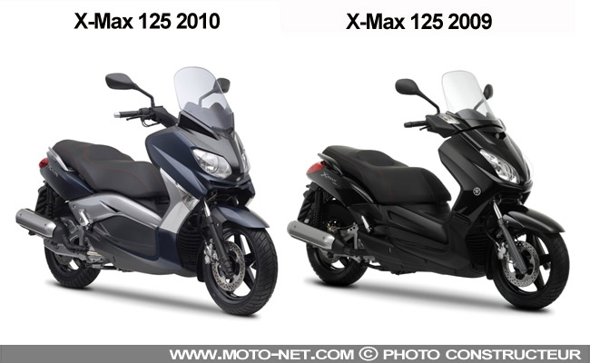 nouveaut s yamaha revisite ses x max 125 et 250. Black Bedroom Furniture Sets. Home Design Ideas