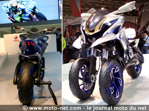 nouveaut s intermot yamaha expose un concept de moto trois roues. Black Bedroom Furniture Sets. Home Design Ideas