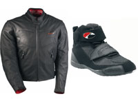 Blouson Maddox et chaussures Riley : sobres et racing