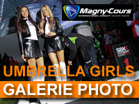 WSBK France - Galerie photo : stands et umbrella girls à Magny-Cours