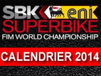 Calendrier officiel du World Superbike 2014