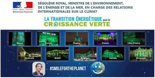 #Smilefortheplanet Ségolène Royal sourit à la planète