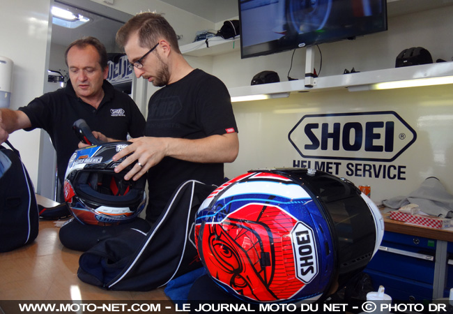 Interview : le camion Shoei France au petit soin pour les pilotes WorldSBK