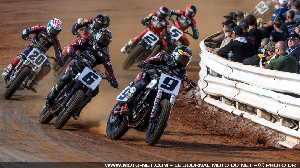 Indian et son pilote Jared Mees, champions AMA Flat Track 2017