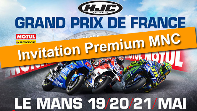 Votre invitation au GP de France Moto 2017