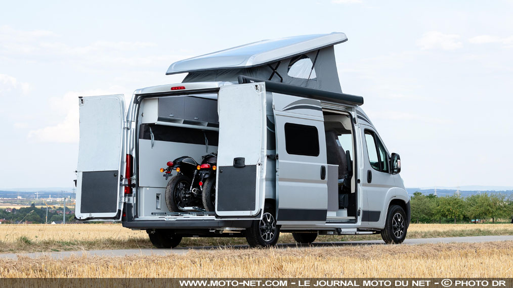 Transport de moto : Citroën Jumper Biker Solution, le camping-car du motard !