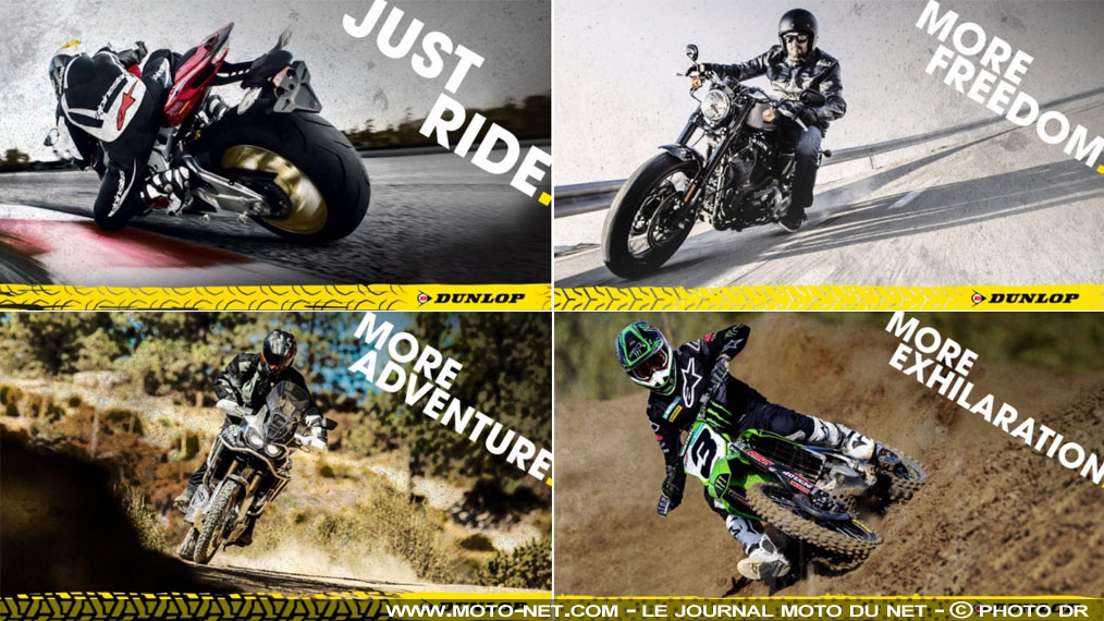 Just Ride, le nouveau message promotionnel des pneus moto Dunlop