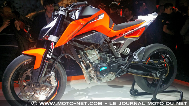 nouveaut s ktm d voile son prototype de 790 duke milan. Black Bedroom Furniture Sets. Home Design Ideas