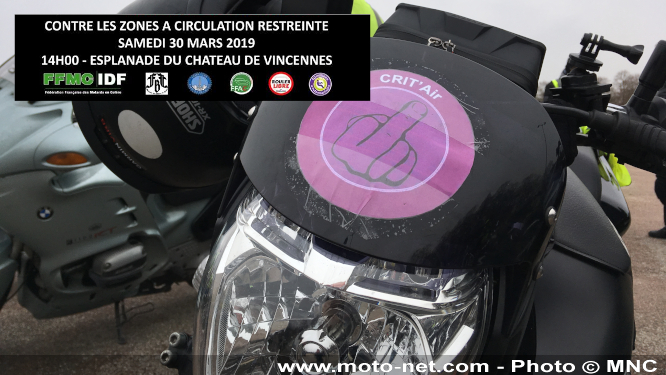 Nouvelle manif des motards contre l'interdiction des motos dans le Grand Paris