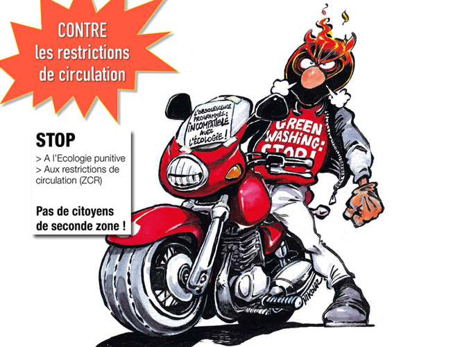 Manifs FFMC contre les interdictions de circulation
