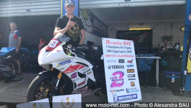 Maximilien Bau champion de France Supersport 2019