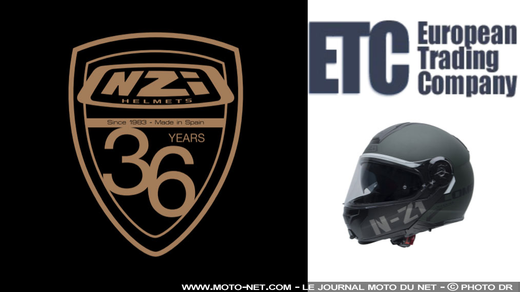 ETC reprend la distribution des casques moto NZI en France