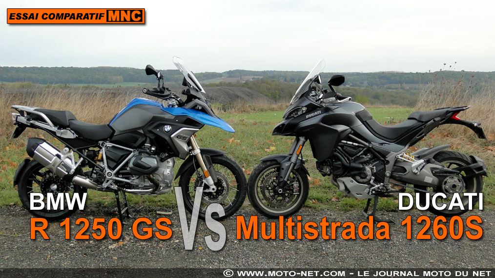 Duel BMW R 1250 GS Vs Ducati Multistrada 1260 S : distribution variable, polyvalence unique