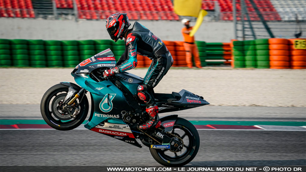 Quartararo finit les tests MotoGP de Misano à un cheveu du record