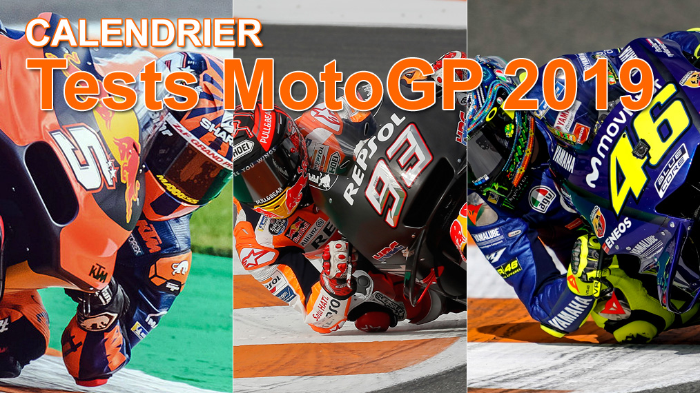 Calendrier des tests d'intersaison MotoGP 2019
