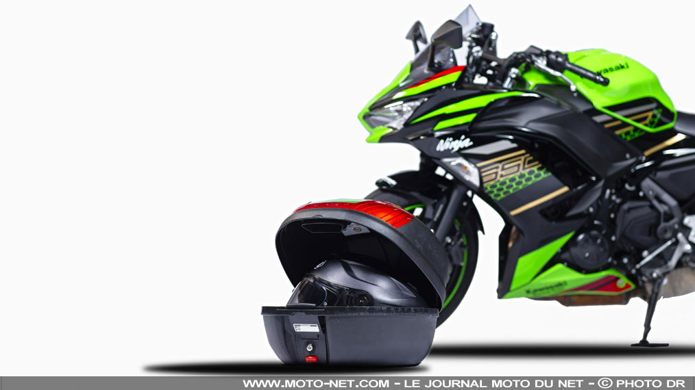 25% de réduction sur les top case Kawasaki