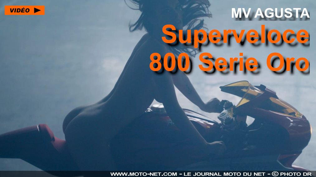 MV Agusta lance la Superveloce 800 Serie Oro : attention les yeux !