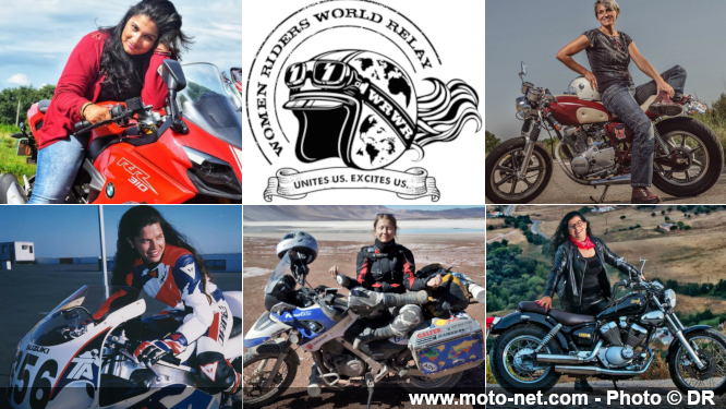 Départ du Women Riders World Relay (WRWR) pour attirer l'attention sur les femmes motardes