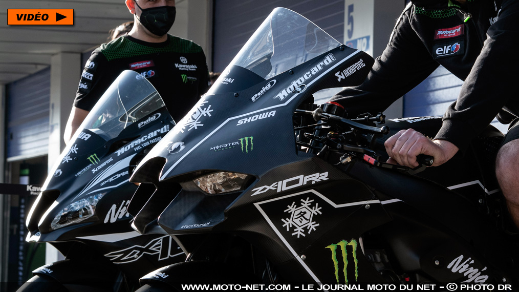 La ZX-10RR 2021 pointe le bout de son carénage aux tests WSBK de Jerez